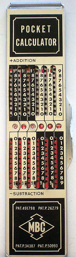MBC Pocket Calculator schmal, 6 Stellen (Huey)