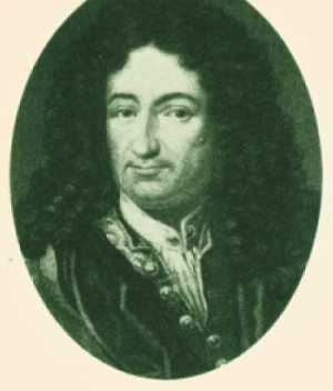 Gottfried Wilhelm von Leibniz<br>Aus: IBM, A Calculator Chronicle
