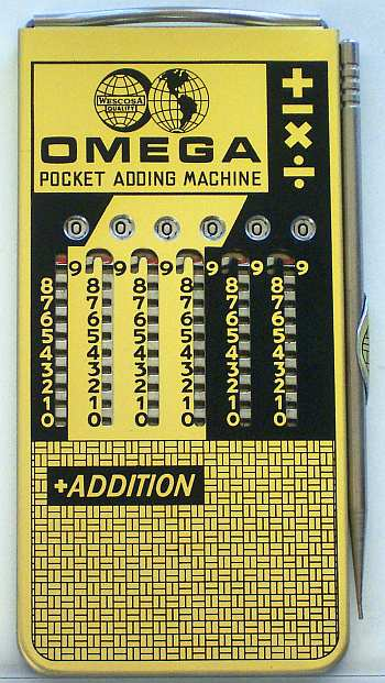 Omega Pocket Adding Machine (2-seitig) (Huey)